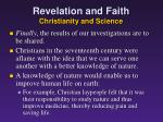 revelation and faith christianity and science5