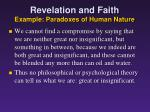 revelation and faith example paradoxes of human nature3