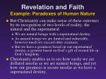 revelation and faith example paradoxes of human nature4