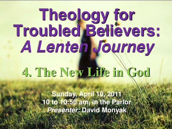 theology for troubled believers a lenten journey n.