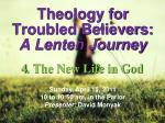 theology for troubled believers a lenten journey