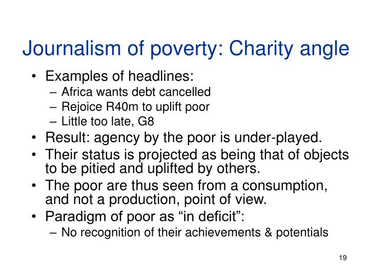 media and poverty