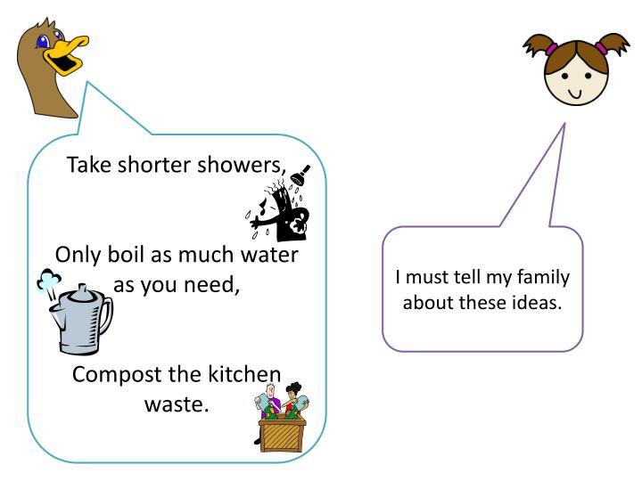 Take shorter showers,