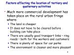 factors affecting the location of tertiary and quaternary activities1