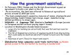 how the government assisted