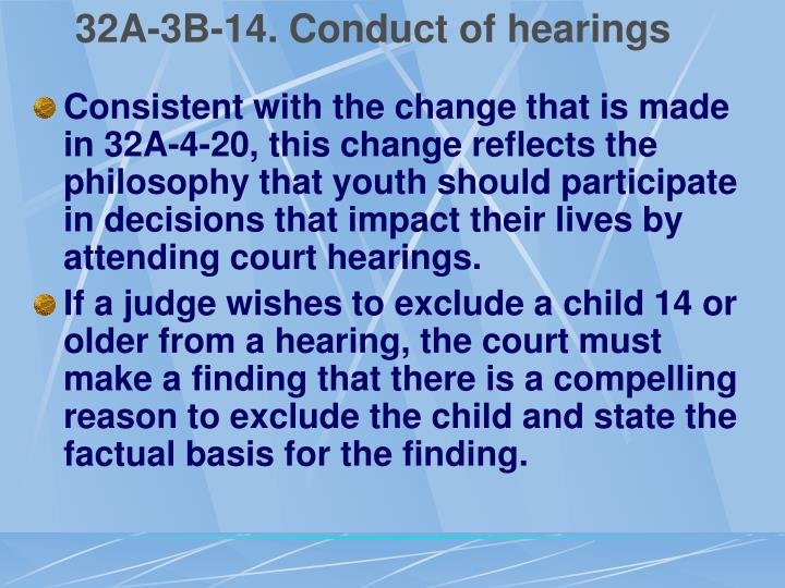 32A-3B-14. Conduct of hearings