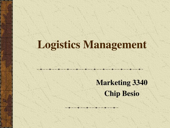 logistics management n.