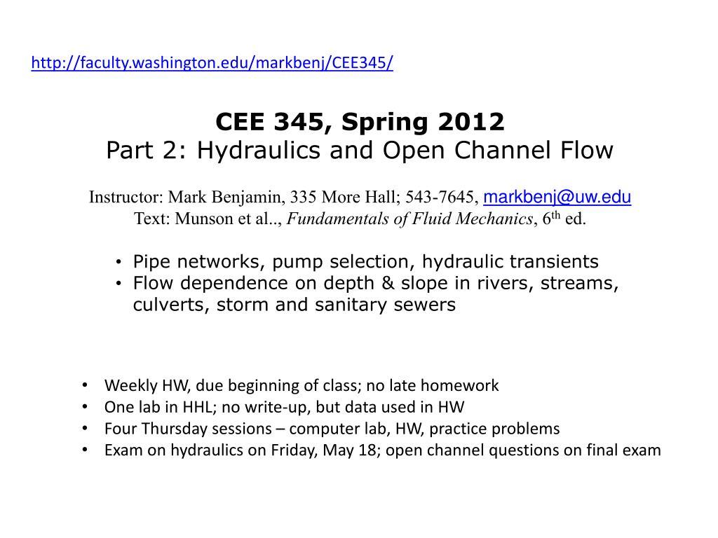 PPT - http://faculty washington edu/markbenj/CEE345/ PowerPoint