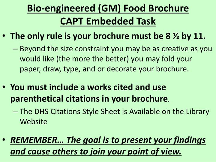 we must ban genetically modified foods essay Potential health effects of genetically modified foods lessons/genetically-modified-food declined to the point where we cannot even.