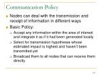 communication policy