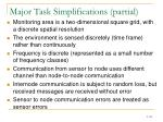 major task simplifications partial