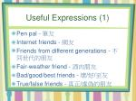 useful expressions 1