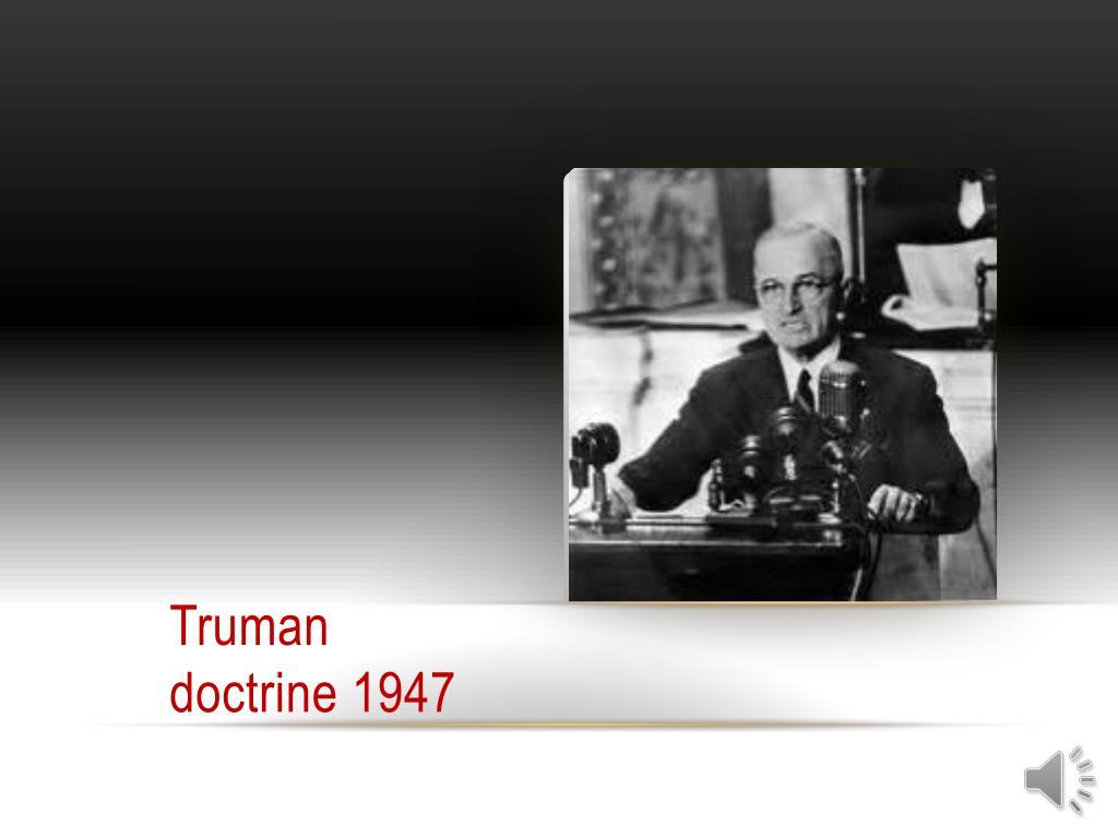 Truman  doctrine 1947
