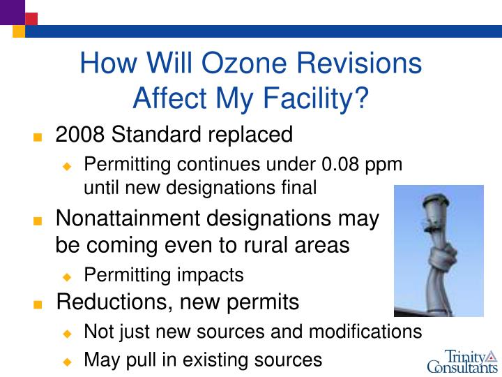 How Will Ozone Revisions Affect My Facility?