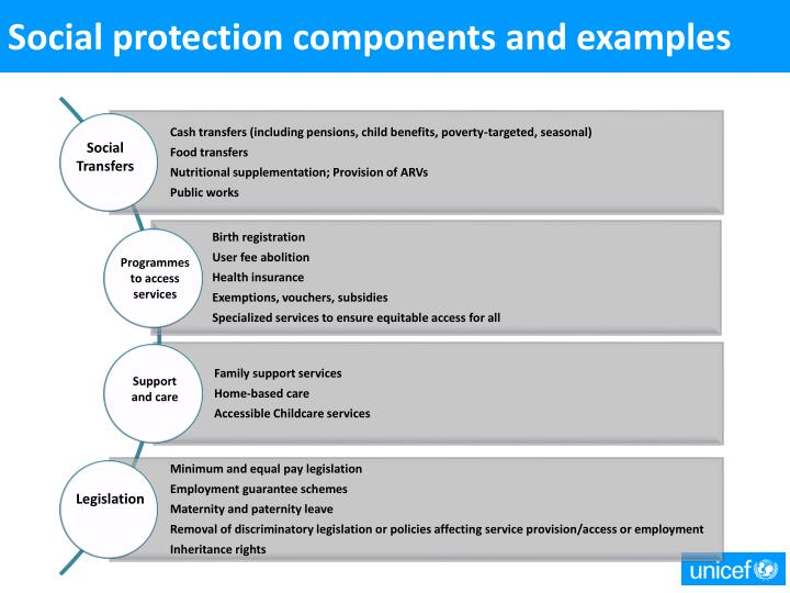 Social protection components and examples