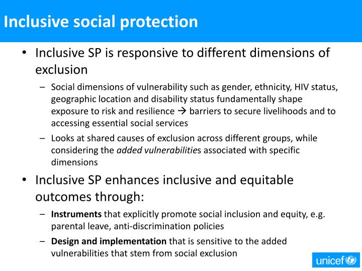 Inclusive social protection