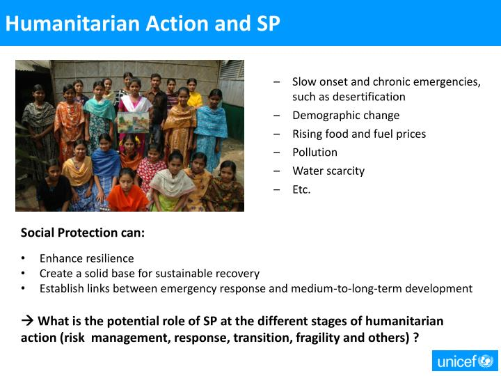 Humanitarian Action and SP