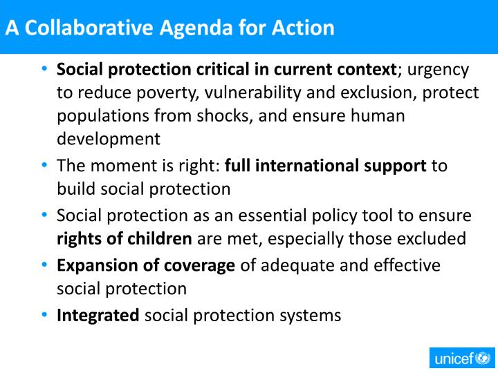 Social protection critical in current context