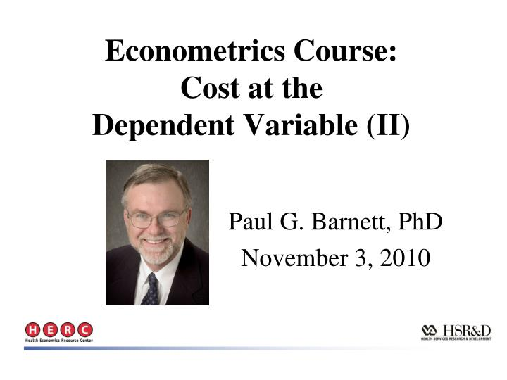 econometrics course cost at the dependent variable ii n.