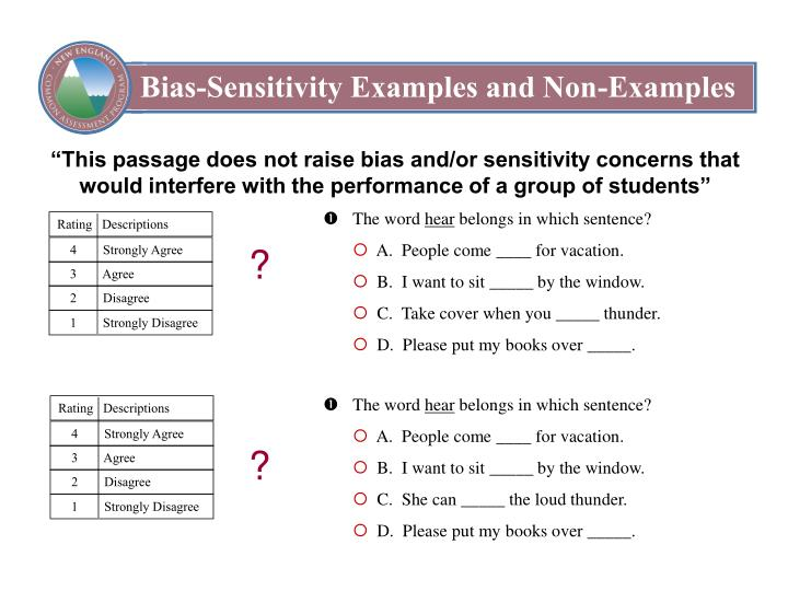 Bias-Sensitivity Examples and Non-Examples