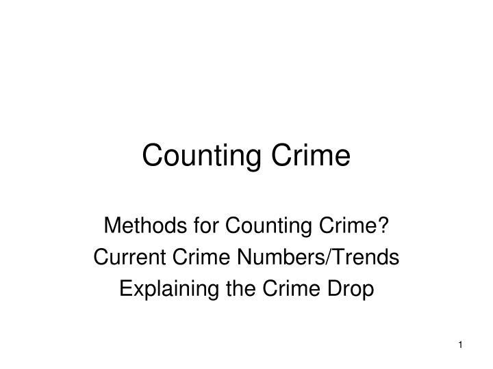 counting crime n.