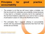 principles for good practice accountability46