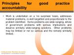 principles for good practice accountability47