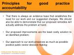 principles for good practice accountability48