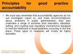 principles for good practice accountability50