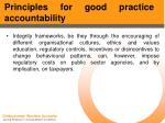 principles for good practice accountability51