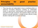 principles for good practice accountability52