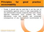 principles for good practice accountability53