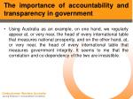 the importance of accountability and transparency in government10