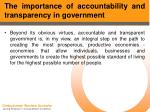 the importance of accountability and transparency in government5