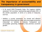 the importance of accountability and transparency in government6