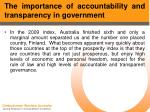 the importance of accountability and transparency in government7