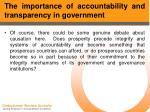 the importance of accountability and transparency in government8