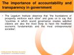 the importance of accountability and transparency in government9