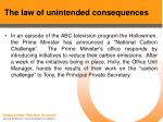 the law of unintended consequences38