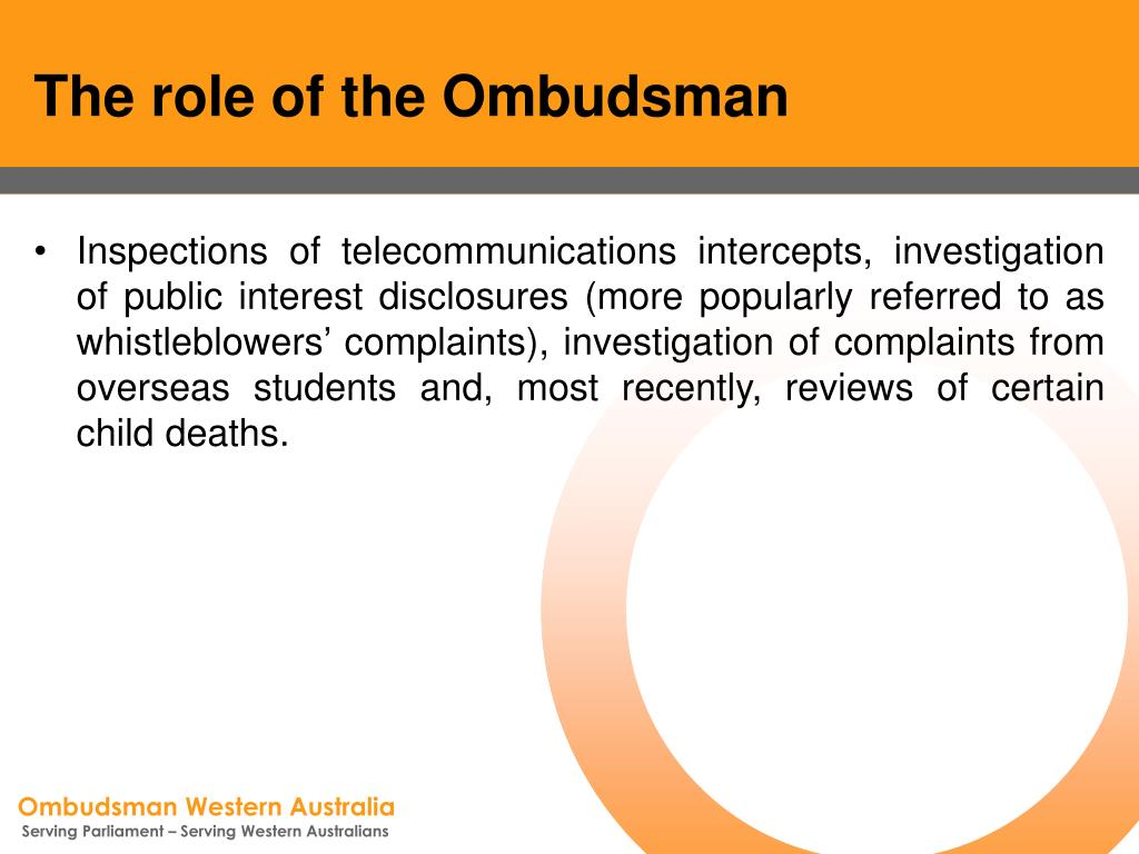 The role of the Ombudsman