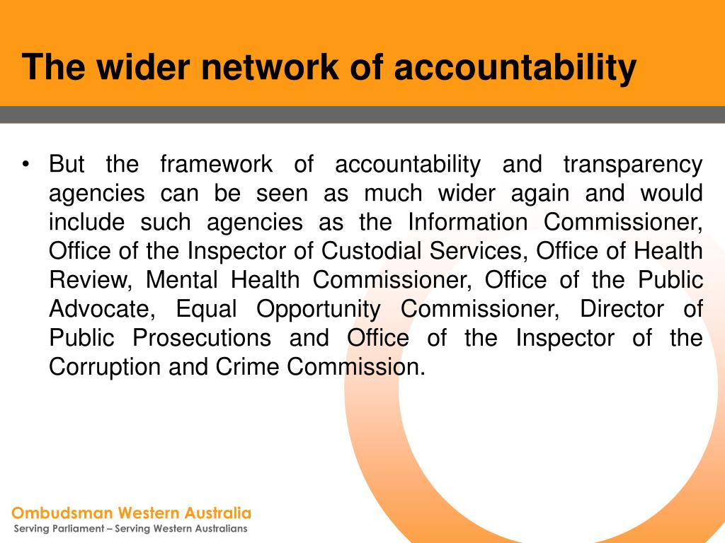The wider network of accountability