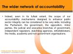 the wider network of accountability21