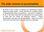 the wider network of accountability22