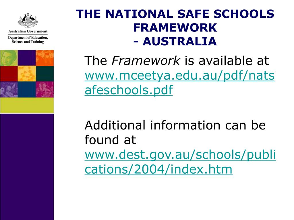 THE NATIONAL SAFE SCHOOLS FRAMEWORK