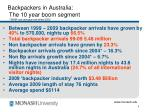 backpackers in australia the 10 year boom segment whm visa changes took effect 2005