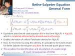 bethe salpeter equation general form