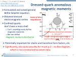 dressed quark anomalous magnetic moments4