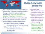 dyson schwinger equations
