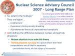 nuclear science advisory council 2007 long range plan1
