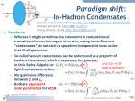 paradigm shift in hadron condensates1